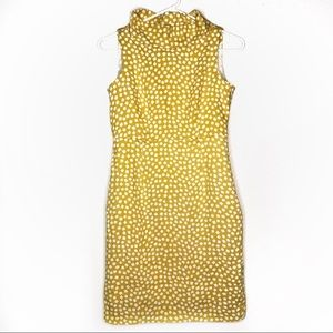 Anne Klein mockneck printed gen z yellow dress 4P